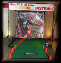 speed pitch baseball arcade game rental