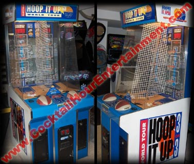 hoop it up basketball arcade game rental