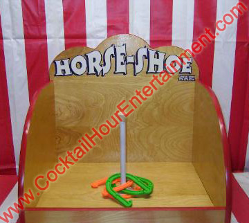 carnival horse shoe toss game
