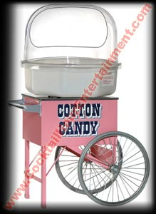 cotton candy cart with cotton candy machine