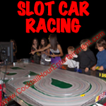 arcade slot car racing button